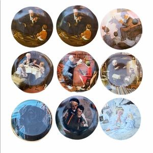 Norman Rockwell Knowles Authentic Collector Plates